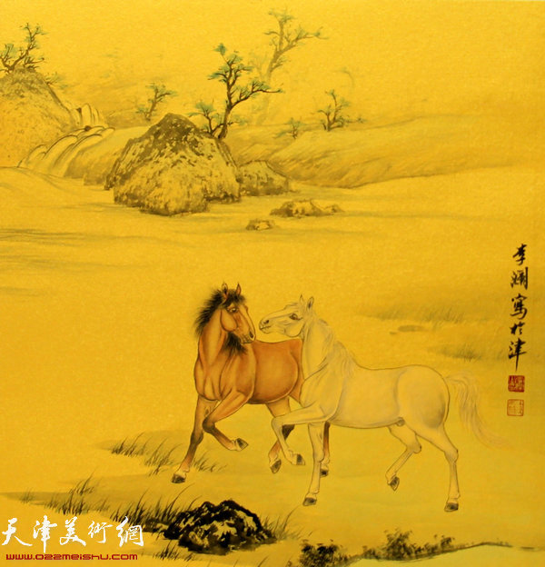 李澜画马新作:《龙马精神》