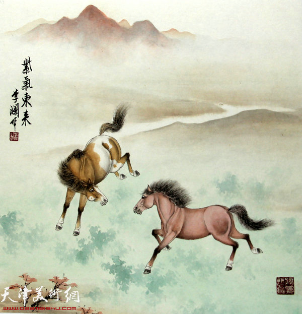 李澜画马新作:《紫气东来》