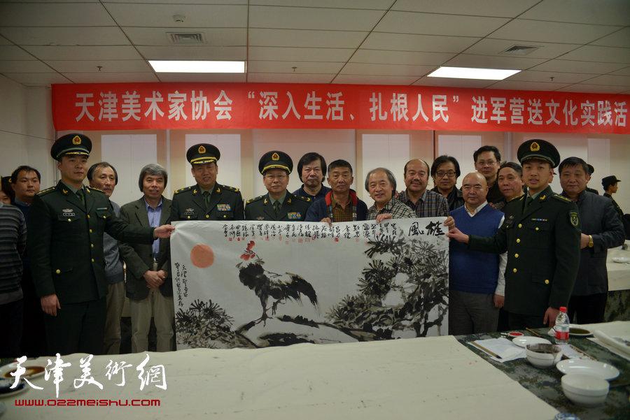 天津市美术家协会主席团成员到天津警备区军营连队慰问