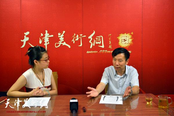 著名书法家张建会做客天津美术网