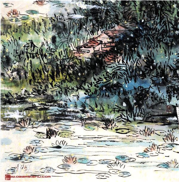 范闻泽作品:《池塘》