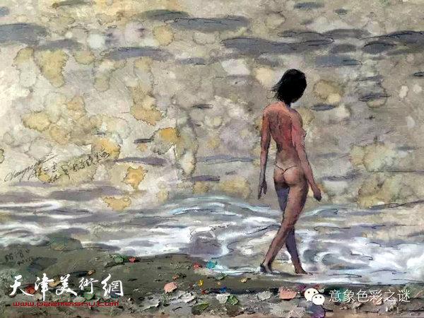 程亚杰油画 苏联记忆《踏浪》