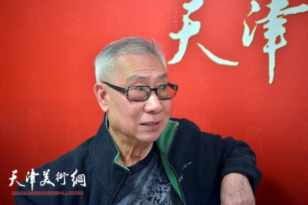 著名画家刘洪麟做客天津美术网