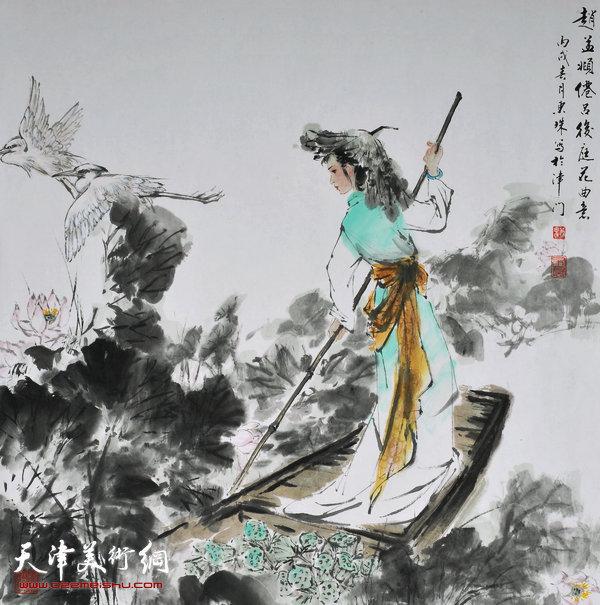 萧慧珠作品:仙吕后庭花诗意