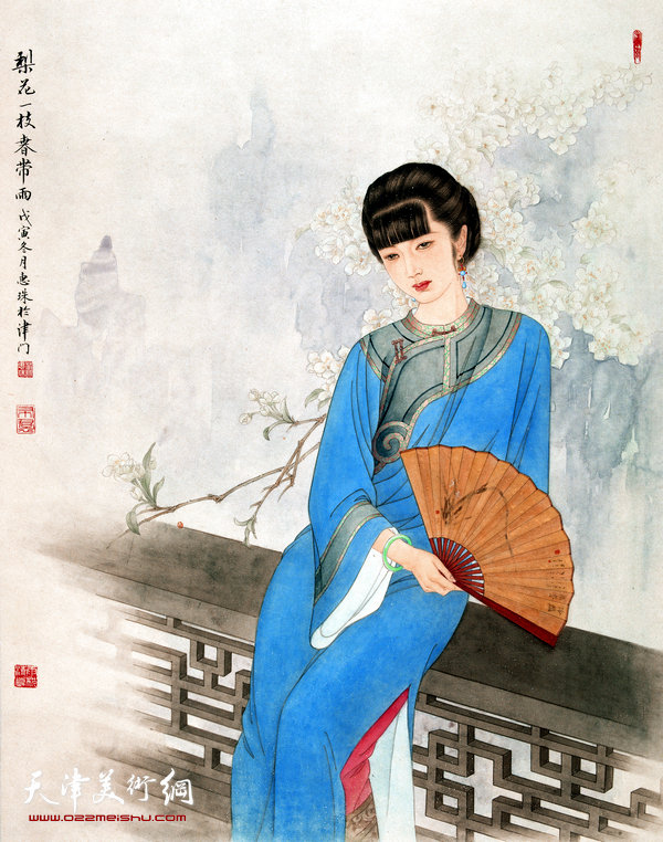 萧慧珠作品:梨花一枝春带雨
