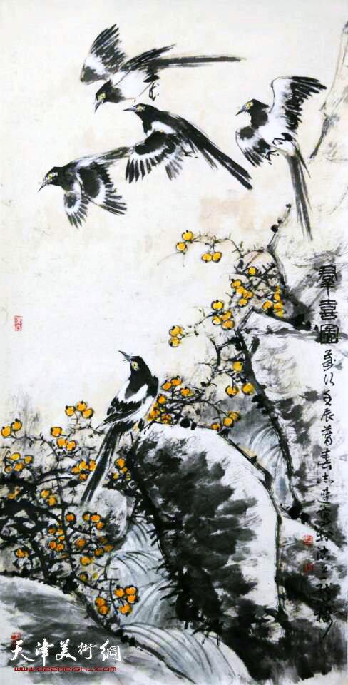 张志连作品:群喜图