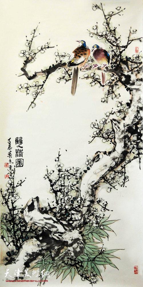 张志连作品:双清图