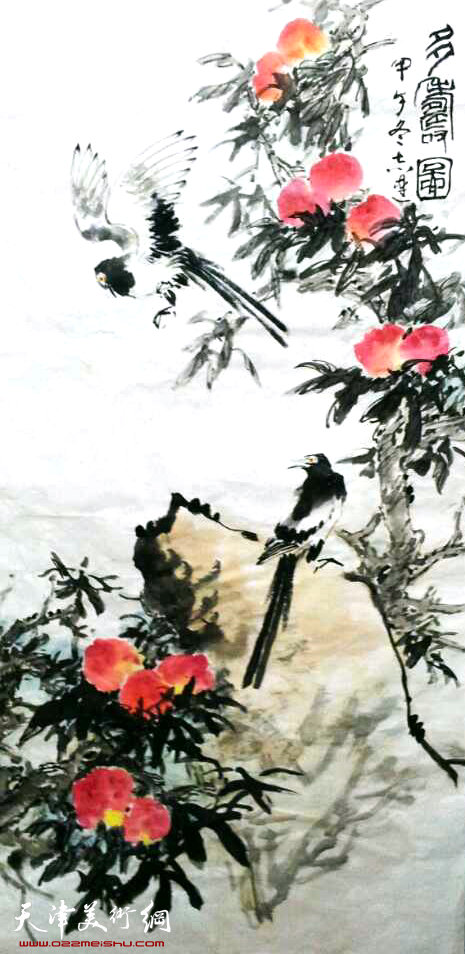 张志连作品:多寿图