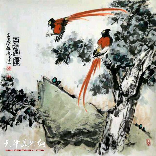 张志连作品:百寿图