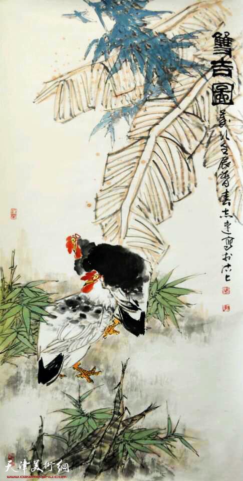 张志连作品:双吉图