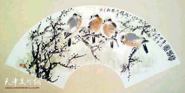 张志连作品:赏春图