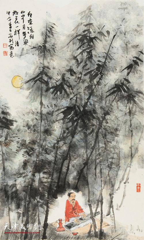陈丙利作品:《月夜清风图》