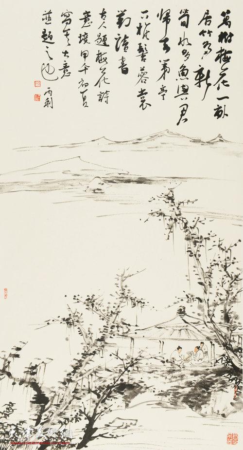 陈丙利作品:《古人诗境写意图之二》