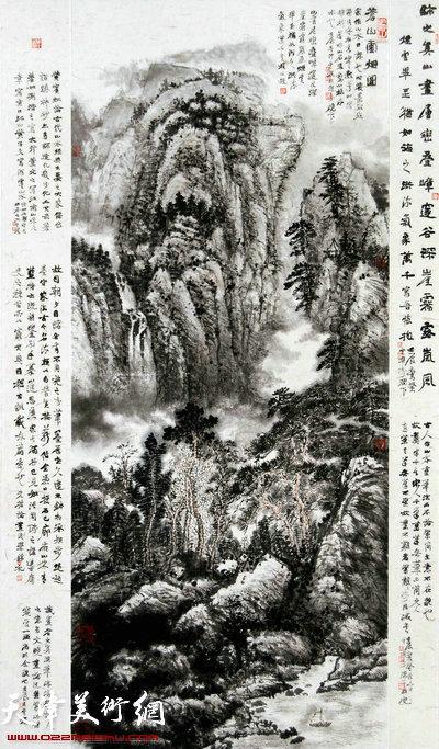 2002年,任云程工作的铁路系统在(中国)天津书法艺术节上举办书法展览图片