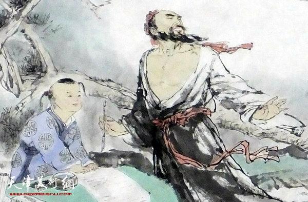 王春涛新作:兰亭雅集 (局部)