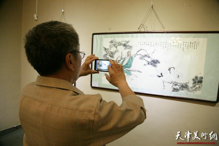 """""""水墨青春・天津青年书画家学术展""""5月1日在天津西洋美术馆开展,图为"""
