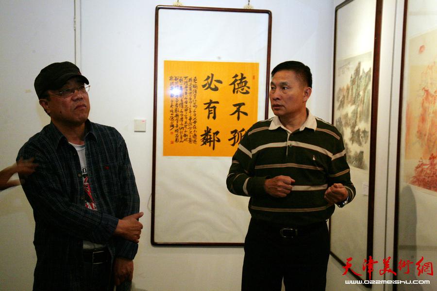 """""""津门画语""""津门书画院第五届年展在天津美术馆开展,"""