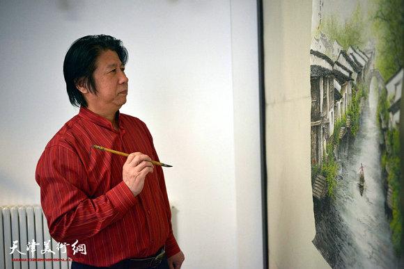 秀夺五岳雄——读李学亮的山水画作