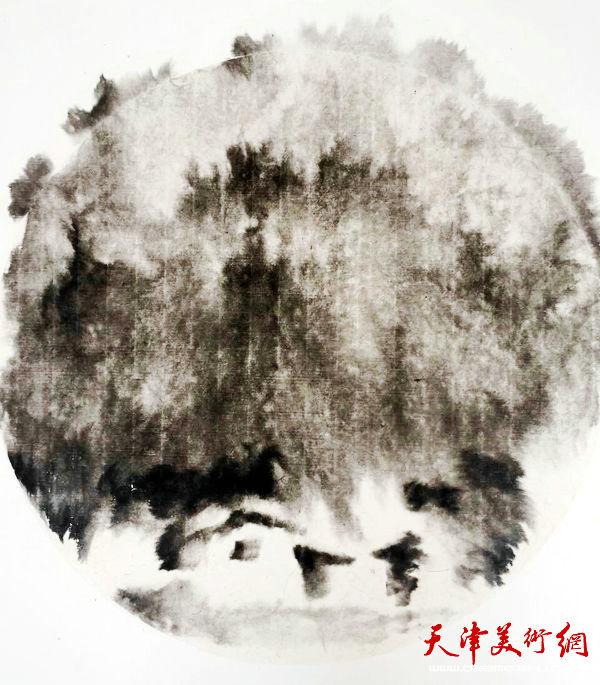 """天津美协""""深扎""""主题活动走进泾县明星宣纸厂,图为原天津画院副院长郭凤祥写生作品。"""