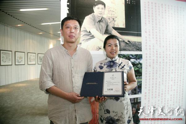 """""""冲·和""""乙未孙列中国画艺术展在萨马兰奇纪念馆开展,图为展览现场。"""