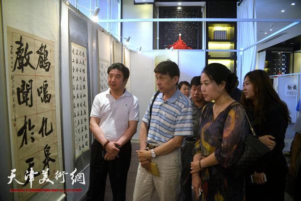 张鹤年,彭英科书法展在大城红木文化新城开幕-天穆-天