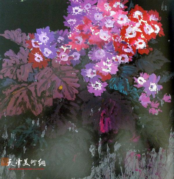 张振群作品:瓜叶菊