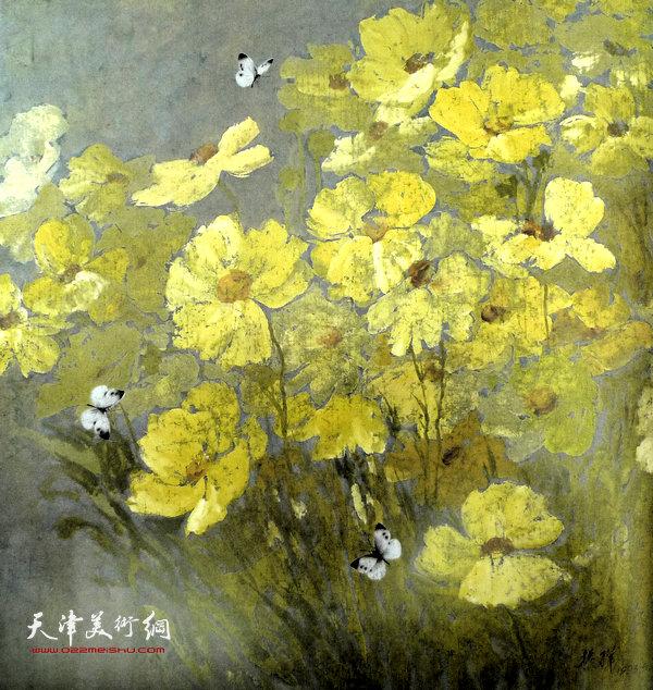 张振群作品:黄花与百蝴蝶