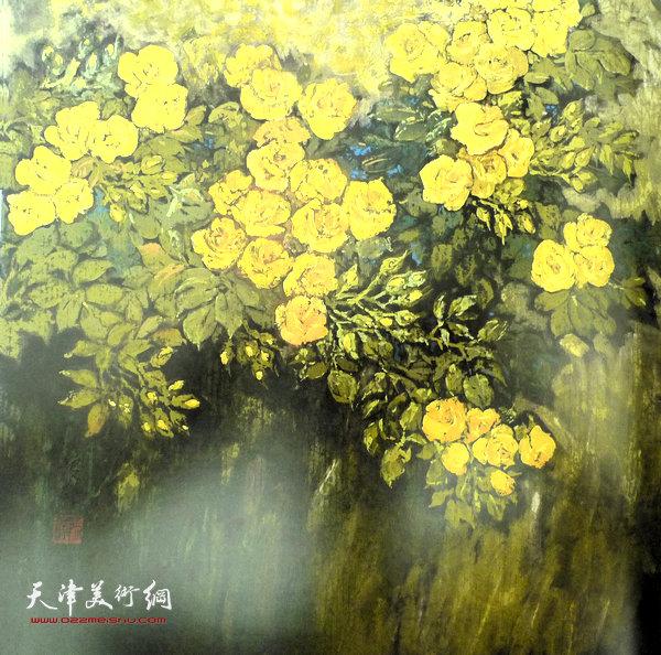 张振群作品:黄蔷薇之二
