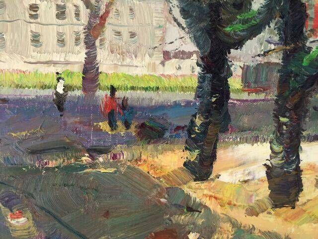 意象油畫《雨中曲》 24x34cm 程亞杰 2015年法國香波城堡