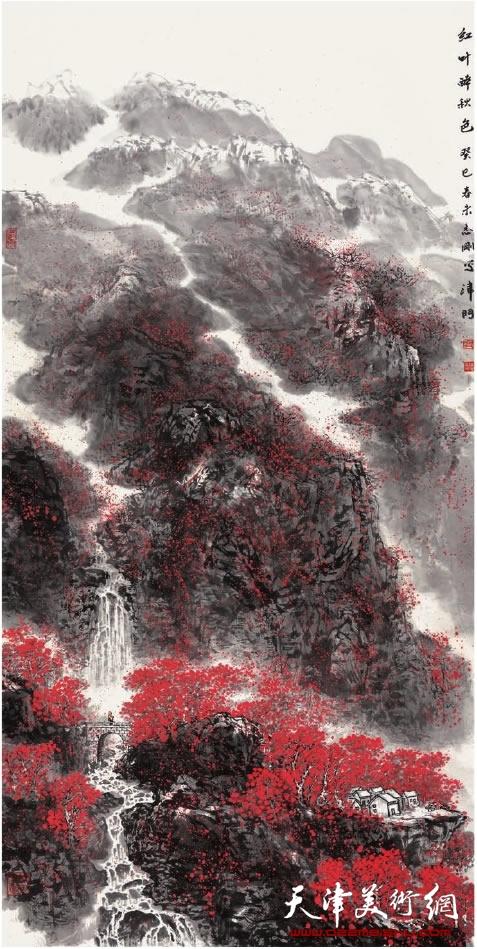 皮志刚《红叶醉秋色》