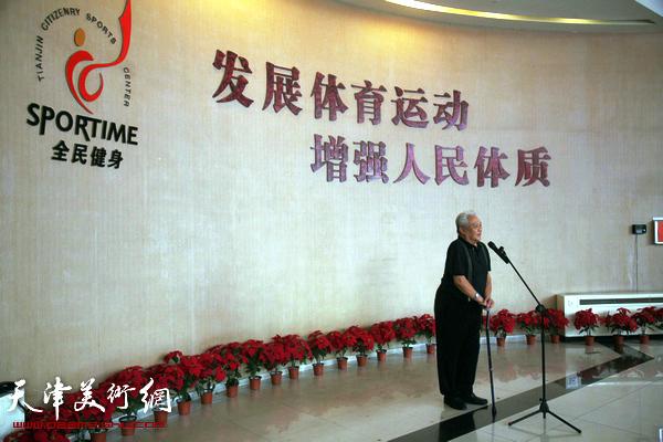 天津体育之光书画院举行庆祝成立一周年活动,图为