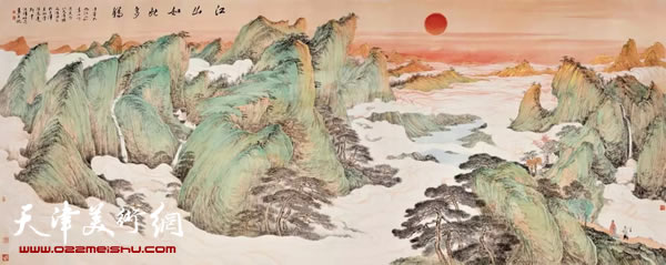江山如此多娇/纸本/144cmx358cm