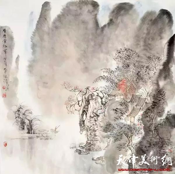 层层云外峰/2013年/纸本/70cmx70cm