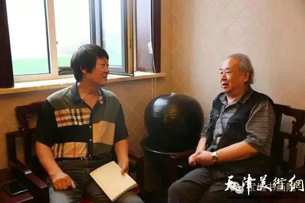 原天津美术学院教授王振德先生莅临指导