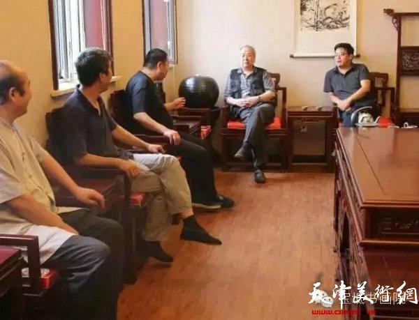 王振德教授与区文广局领导、区内外书画家交流