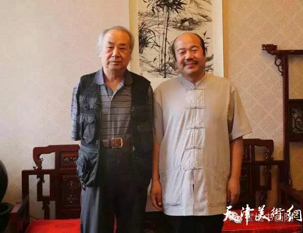 王振德教授与书画名家孟庆占先生合影