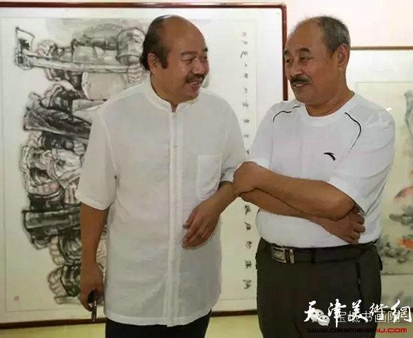 刘铁泉先生与孟庆占先生交流、研讨