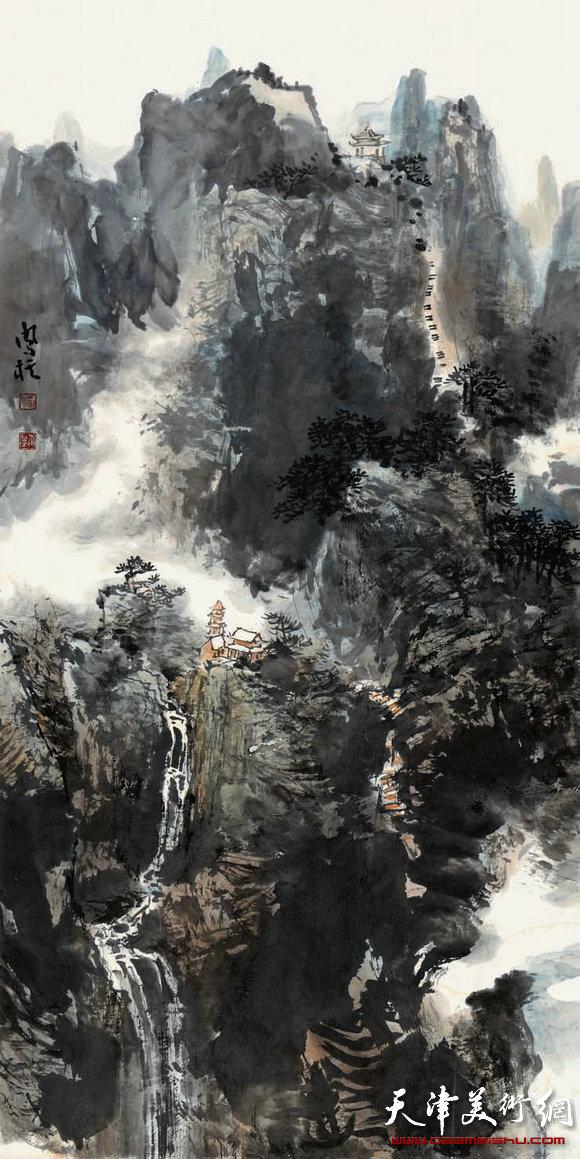 刘凤棋参加天津首届山水画展作品