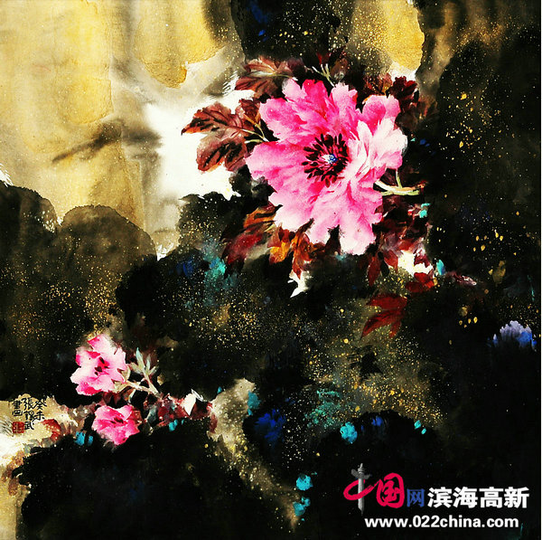 """著名国画家""""牡丹张""""张锡武作品"""