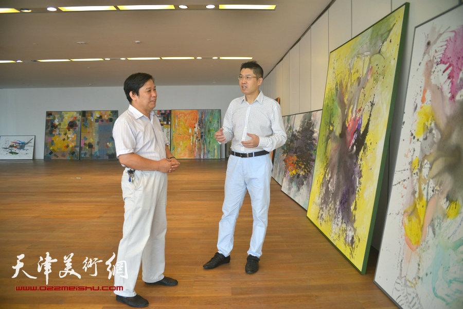 天津美协秘书长李耀春看望国际油画大师程亚杰