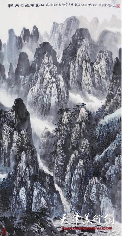 时景林作品《轻舟已过万重山》