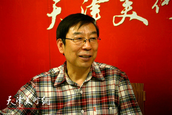 著名画家时景林做客天津美术网
