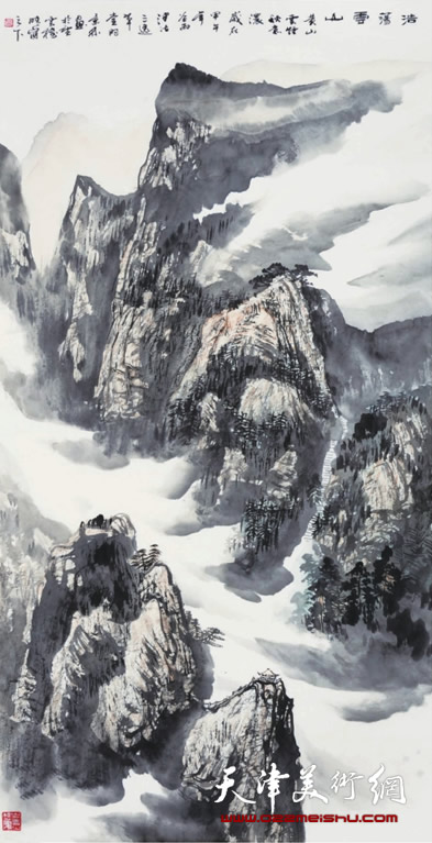 时景林作品《浩荡云山》