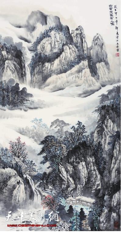 时景林作品《白云深处有人家》