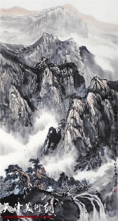 时景林作品《云过雾高山依在》