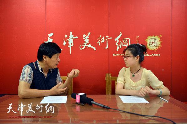 著名画家孟宪义做客天津美术网