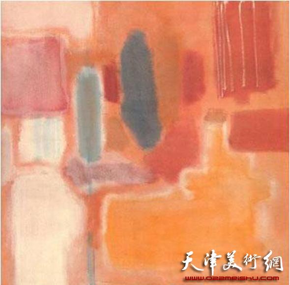 美国画家马克·罗斯科 No.9(1948年混合材料)