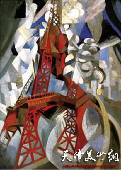 立体主义画家德劳内 红埃菲尔铁塔