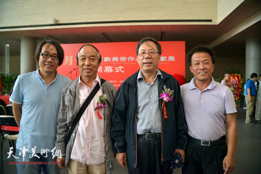左起:张晓彦、王錞 、陈英杰、詹卫国