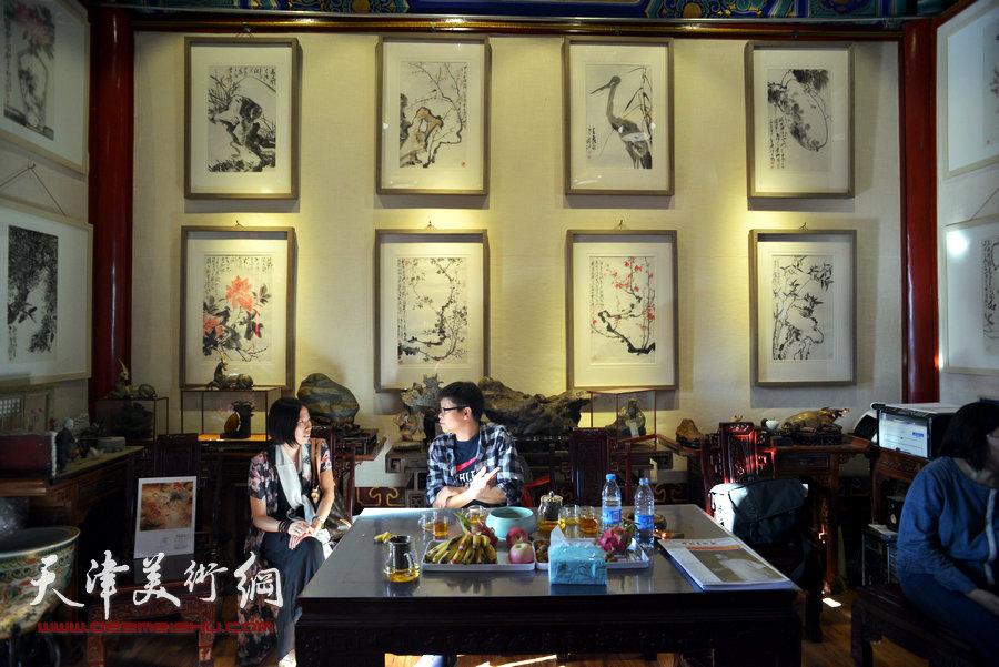 贾广健精品佳作9月13日在集真阁展出,图为现场。
